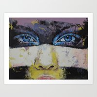 superhero Art Prints featuring Superhero by Michael Creese