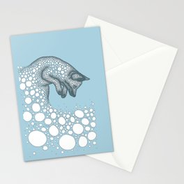 Jumping fox Stationery Cards