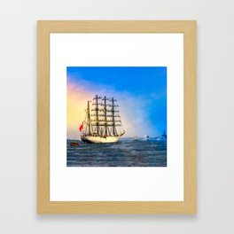 Sail Boston - Union Framed Art Print