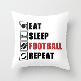 American Football Repeat Team Game USA Gift Idea Throw Pillow