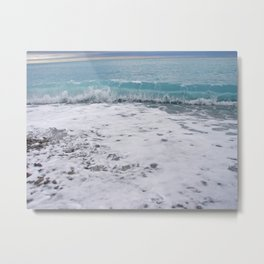 Inside a Wave Metal Print