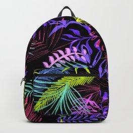 80s artstyle dark jungle pattern Backpack