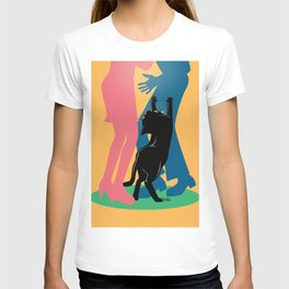 People and cat T-shirt