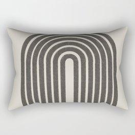 Rainbow Art, Geometric Mid Century, Rectangular Pillow