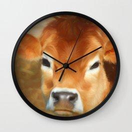 Adorable Cow Face Wall Clock