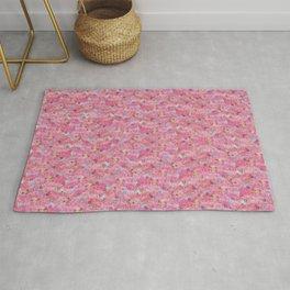 Chirimen Floral Pink Rug