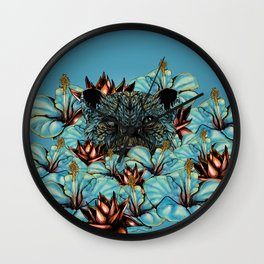 The Tiger and the Flower Wall Clock
