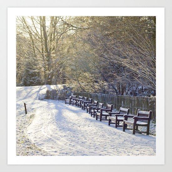 Christmas winter Art Print