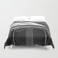 car Duvet Covers featuring Car by Veronika