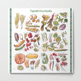 Vegetable Encyclopedia Metal Print