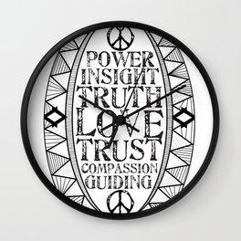 Love Sheild Wall Clock