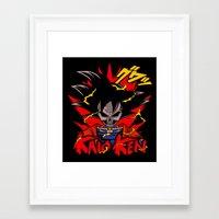 dbz Framed Art Prints featuring Goku Skull DBZ by offbeatzombie