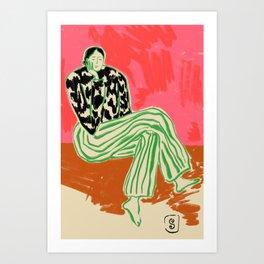 CALM WOMAN PORTRAIT Art Print