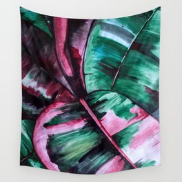 Aquarell Plant Stromanthe Sanguinea Wall Tapestry