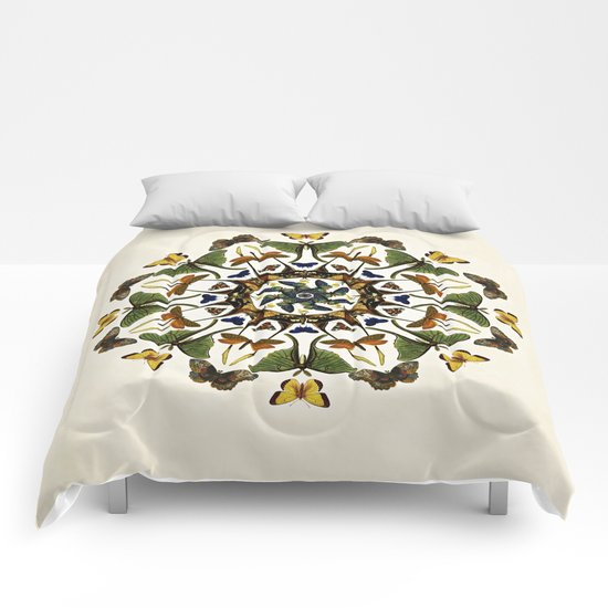 Kaleidoscope with Wings Comforters