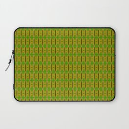 Heliconia Green Gold Stalks Pattern Laptop Sleeve