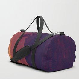 Monochrome Ombre Sunset Purple Orange Hues Cabin House by the Ocean Cliffs Duffle Bag