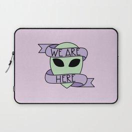 We Are Here (Purple) Laptop Sleeve