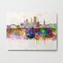 Baltimore V2 skyline in watercolor background Metal Print