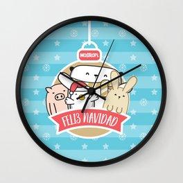 Navidad azul mostropi Wall Clock