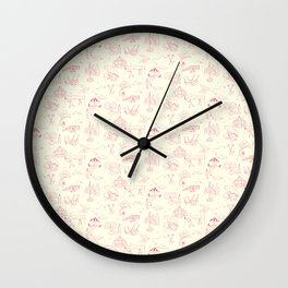 Toile Lawn Games Wall Clock