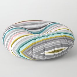 grey and colored stripes Floor Pillow