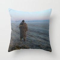 bigfoot Throw Pillows featuring Bigfoot? by Randy Sager