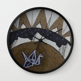 Crane of Consciousness Wall Clock
