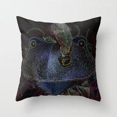 Sir Frog Throw Pillow