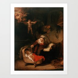 Holy Family with Angels Art Print
