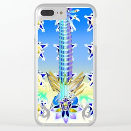 Fusion Keyblade Guitar #53 - Ultima Weapon (BBS) & Ultima Weapon (KH2) Clear iPhone Case