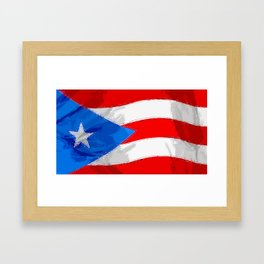 Puerto Rico Fancy Flag Framed Art Print