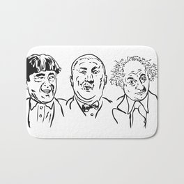 Stooges Moe, Curly and Larry Bath Mat