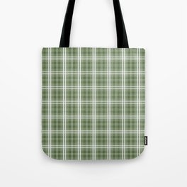 Spring 2017 Designer Color Kale Green Tartan Plaid Check Tote Bag