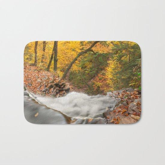 Autumn Waterfall Precipice Bath Mat