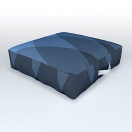 Light blue to Black Ombre Signal Outdoor Floor Cushion