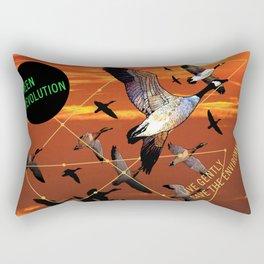 fly high: green revolution Rectangular Pillow