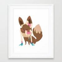 sylveon Framed Art Prints featuring Sylveon by Dani Tea