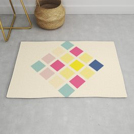 Rona - Colorful Abstract Art Pixel Pattern Rug