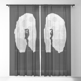 Skater Moon Sheer Curtain