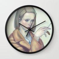 tenenbaum Wall Clocks featuring Margot Tenenbaum by Lek Chan