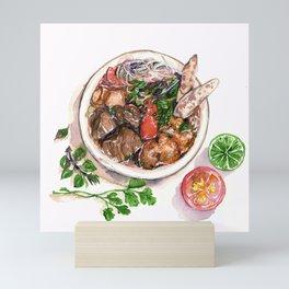 """Bun rieu"" - Noodle with freshwater crab Mini Art Print"