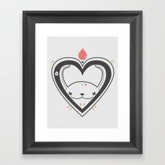 HEART ♥ DROP Framed Art Print