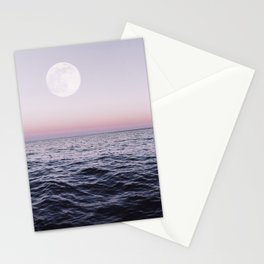 Ocean Moon Sunset Stationery Cards