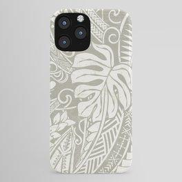 Vintage Organic Samoan Tribal Design iPhone Case