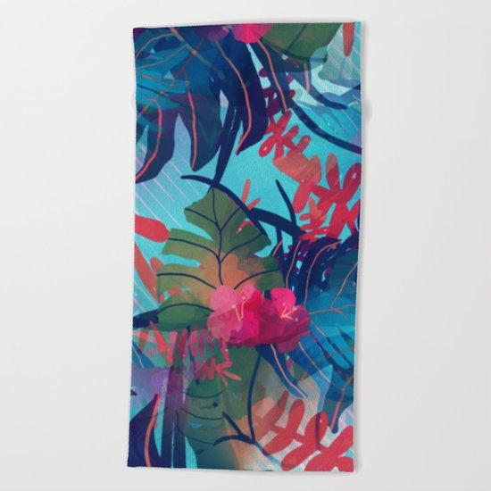 Tropical Blues Beach Towel