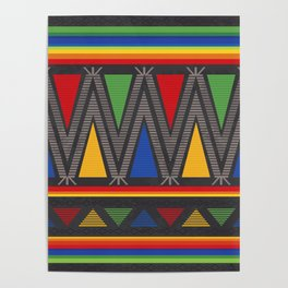 Mexican Geometric Pattern Poster