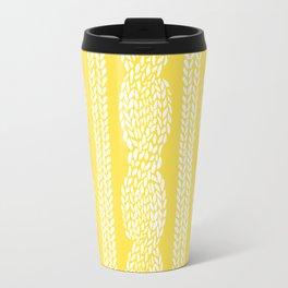 Cable Row Yellow Travel Mug