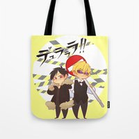 durarara Tote Bags featuring Drrr!! by psych0tastic