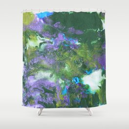 Abstract Wildflower Field Shower Curtain